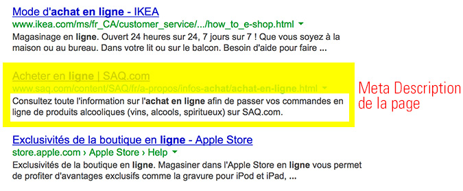 Meta Description de la boutique Panierdachat.com